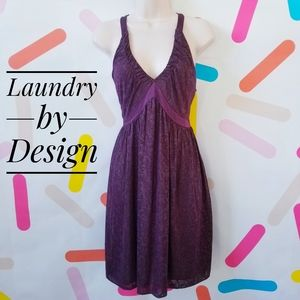 Laundry by Design Plum Shimmer  Cocktail Dress
